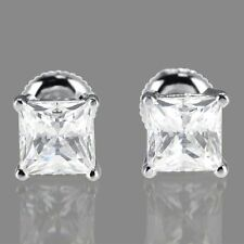 Screw Back (pierced) Natural VS2 Fine Diamond Earrings
