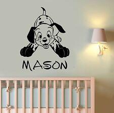 Custom Name Dalmatian Wall Decal Vinyl Sticker Disney Art Nursery Decor dlm6