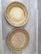 2 piatti con fiorellini rosa  S.C. RICHARD STEMMA INCISIONE G