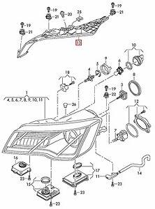 GENUINE OEM Audi A7 S7 RS7 2010-2014 Headlight Upper Bracket Mount Panel Right