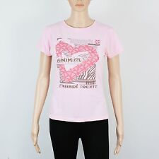 Animal Womens Size S 6 8 Pink T Shirt Top