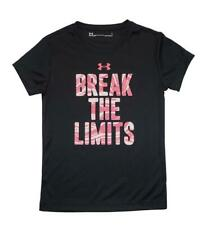 Under Armour Girls Black & Pink Break The Limits S/S Top Size 5