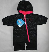 Columbia Baby Girl Size 3-6 Months Little Dude Snow Suit Black Cheetah/Laser Red