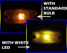 24V High Power LED Ba9S/249/233 Bulb Side Marker Position Light Lamp Amber