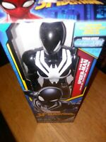Spider-Man Titan Hero Series: Black Suit Marvel Brand NEW 11.5 Inches Spiderman!