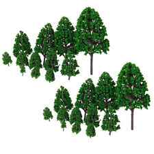 24Pcs Mix Sized Tree Models 3-16cm Height Layout 1/50 Park Garden Landscape