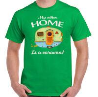 my other HOME ES UN Caravana Hombre Divertido Caravaning Camiseta camping toldo