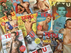 Promo TETU magazine (gay) un numéro au choix ! (deneuve; Manaudou; mika; farmer)