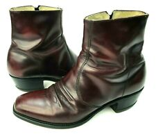 VTG Genuine Sears Roebuck Cordovan Anchorman Leather Cowboy Ankle Boots 9M
