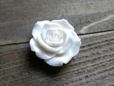 Large Flower Cabochon Flatback White Rose Resin 45mm Big Flat Back Finding