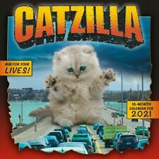 2021 Catzilla Monthly View Wall Calendar, 16-Month, Cats Animals, 12
