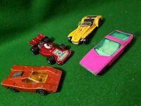"4x Matchbox 1970s superfast   3"" Diecast lesney cars vintage toy"