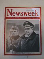 WWII German Field Marshal Kesselring Newsweek Magazine February 21, 1944  B0997