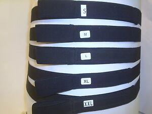 ELASTIC BLACK BELTS WITH FINGER LOOP AND VELCRO® brand  HOOK & LOOP FASTENINGS