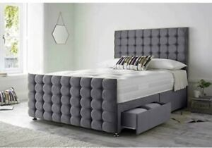 Double Divan bed&Mattress With 2 Drawers