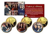 John F Kennedy *INAUGURATION 50th ANNIVERSARY* Statehood 24K Quarters 3-Coin Set