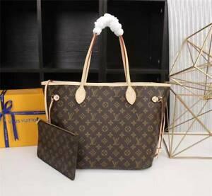 100% Authentic Louis Vuitton Monogram Handbag Neverfull MM Bag