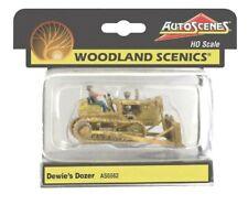 HO Scale Woodland Scenics AutoScenes AS5562 Dewie's Dozer Vintage Bulldozer