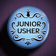 JUNIOR USHER Pin Badge Button - Wedding Outfit Boys Suit Children Gift Planning