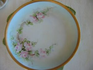 "JR Hutschenreuther Bavarian Selb China Plate 7&3/4"" Gold Gilt Rim-Old"