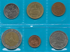 THAILAND CURRENCY COINS Set of 6 Different