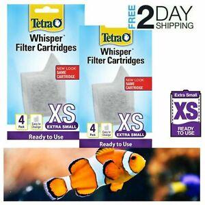 Tetra Whisper XS Filter Cartridges Extra Small AQ For aquarium Filtration 8 Pack