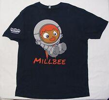 Twitch.TV Astronaut Millbee black t-shirt size adult large VGUC