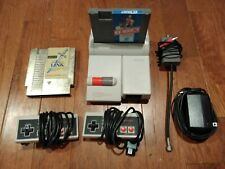 Nintendo NES Top Loader System Console + 2 Controllers + 2 games + power + RF