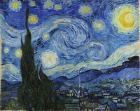 Vincent Van Gogh Starry Night Giclee Canvas Print Paintings Poster Reproduction