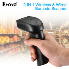 Eyoyo 2in1 2.4Ghz Dongle Wireless USB Wired 1D 2D QR Barcode Scanner Reader Mini