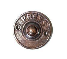 PRESS round brass antique sty door push button bell Bronze