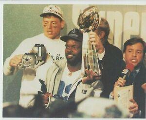 DALLAS COWBOYS 1993 SUPERBOWL #8 TROY AIKMAN EMMITT SMITH TROPHY 8X10 PIC NFL