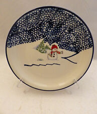 Thomson Pottery Snowman pattern - set/lot of 4 Snowman Salad plates - New