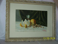 *Charles E.Drake*Listed Artist-Original c1894 Water Color Still Life Painting
