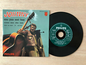 """JOHNNY HALLYDAY -  CD SINGLE PHILIPS 437.099 """" MES YEUX SONT FOUS """" EP NEUF"""