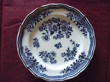 Assiette bleue, origine inconnu, (ancienne)
