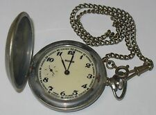 CCCP SOVIET USSR RUSSIAN POCKET WATCH MOLNIJA WITH CHAIN OROLOGIO TASCHINO RUSSO