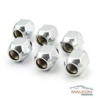 6 x CHROME WHEEL NUTS FOR NISSAN PATROL PATHFINDER NAVARA & MORE  40224V550