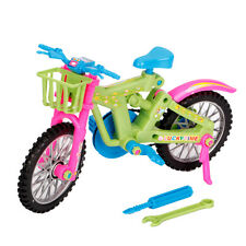 Children's Miniature Emulational Bicycle Vehicle Toy Fits Barbie Rotatable Wheel