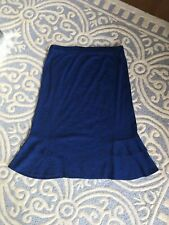 Exclusively Misook Knit Skirt Blue Medium New