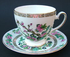 1980's Royal Grafton Indian Tree Pattern Footed 220ml Tea Cups & Saucers in VGC