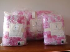 NWT Pottery Barn Lillian Pink Floral F/Q Quilt & Two Std. Shams!