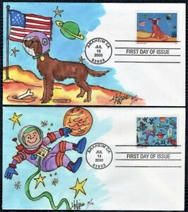 MELISSA FOX HD, Hand Painted a 4-FDC Set : 2000 Stamping in the Future - 10 Made