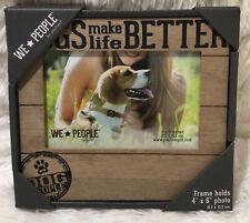 "New listing Dogs Make Life Better Photo Frame -Holds 4"" x 6"" Photo, Dog Love Frame"