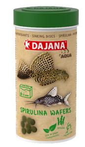SPIRULINA ALGAE WAFERS pleco catfish bottom feeders sinking discs 250ml BBE 2/22