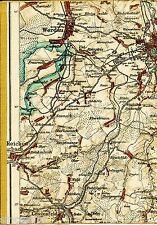 Zwickau Werdau Fraureuth 1921 Teilkarte/Ln. Reichenbach Lengenfeld Hirschfeld