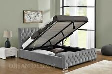 Fabric Bed Frames Divan Bases With Headboard For Sale Ebay