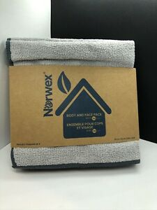 New Norwex Product! Body Face Cloth Pack (Set of 3) -light Grey With Slate Trim