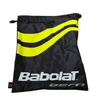 Babolat Aero Shoe String Bag Gym Sack Yellow Black Tennis