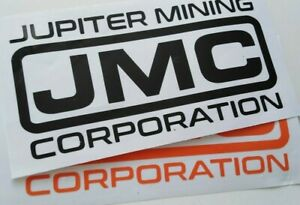 RED DWARF JMC Decal/Stickers, colours LARGE, X LARGE, JUPITER MINING CORPORATION
